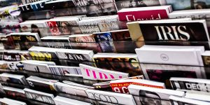 Photo of magazines in a rack