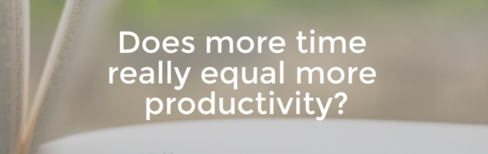 Does working longer make us more productive?