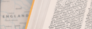 Close up of dictionary