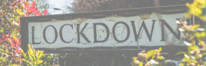 Lockdown street sign